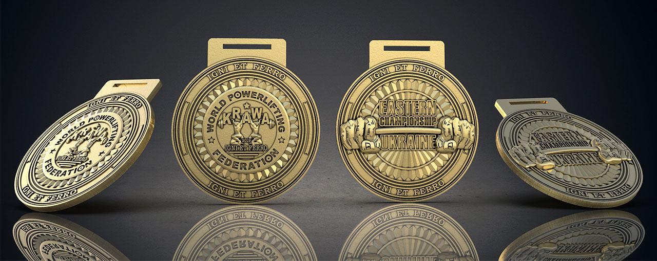 Макет медалей чемпионата Восточной Украины 2019